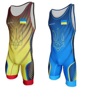 Tuta da wrestling BERKNER  Ukraine B Wrestling Suit Trikot Singlet Ringertrikot