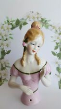 Beautiful 1920'S Style Elegant Victorian Young Lady ~ Half  Pin Cushion Doll