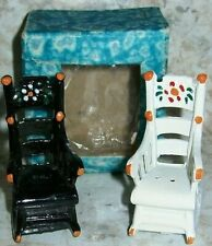 New listing Cast Iron Amish Rocking Chair Salt and Pepper Shakers, Rare with original box