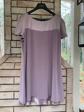 Jones New York Size 14 Purple Triacetate Polyester Fully Lined Dress