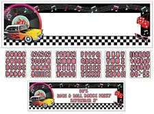 """Classic 50's Personalized Giant Sign Banner Kit 65"""" x20"""""""