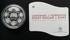 2001 Australia Cent of Federation Holey Dollar & Dump 1oz Silver (.999) coin set
