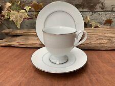 Noritake N518 GUENEVERE tea trio, tea cup, saucer and side / tea plate