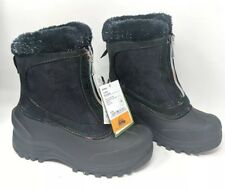 Itasca Snow Boots Kids Size 4 Tahoe Rainbow Zippered Black New with Tags and Box