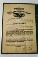 President Calvin Coolidge 1928 Army Medical Corp Appointment Document