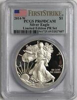 2014-W American Silver Eagle $1 PCGS PR69DCAM - F/S - Limited Edition PR Set