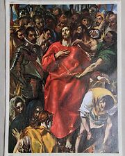 Religious Print on Flat Canvas The Disrobing of Christ by El Greco 16.5x12
