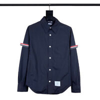 THOM BROWNE 19ss Oxford Casual Shirt Coat Long Sleeve Shirt Top Unisex Size 0-4