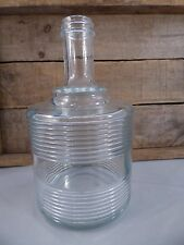 MID CENTURY MODERN RETRO/ VINTAGE GLASS BOTTLE/  CLEAR DECANTER/ VASE/ DECOR