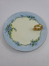 Epiag Royal Czechoslovakia Blue Flower Signed Artist L. Cooke Gold Round Handle