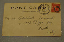 U.S. 1905 POST CARD 2c STAMP