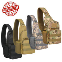 Men's Tactical Military Sling Chest Pack Outdoor Travel Shoulder Bag Camouflage