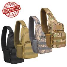 Men's Tactical Military Sling Chest Pack Outdoor Travel Shoulder Bag Camouflage
