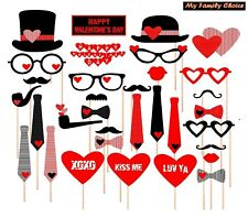 Valentines Day Decorations Photo Booth Props,Attached, NO DIY REQUIRED