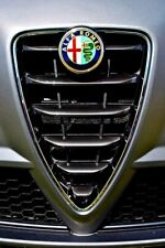 Alfa Romeo Sports Car Front Grille Badge Photograph Picture Poster Print
