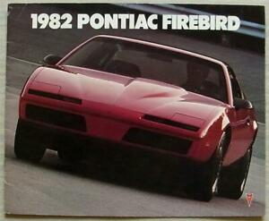 PONTIAC FIREBIRD Trans Am 1982 USA Car Sales Brochure