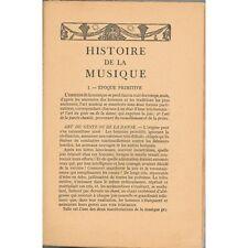 HISTOIRE de la MUSIQUE par Alice GABEAUD PrŽéface Roger DUCASSEŽ Illustré 1930
