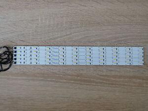5x LED Waggon Beleuchtung 285 mm warm-weiss  kürzbar /Anschusskabel angelötet H0