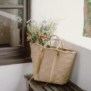 French Woven Market Bag,Large Handmade Seagrass Tote,Shopping Basket,Storage Bag