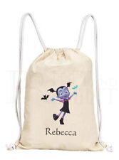 Personalised Childrens Vampirina Drawstring Canvas Gym/ PE Bag