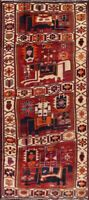 Vintage Dynasty Soldiers on Horse Pictorial 12 ft Wide Tribal Runner Rug 5'x12'