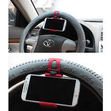 Car Steering Wheel Smart Holder Bracket Clip Mount Fit For Mobile Cell Phone GPS
