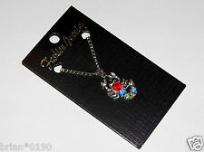 Crystal Fashion Jewelry Scorpion Necklace; Silver and