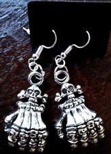 Skull Hand Gothic Dangle Earrings - FREE U.S. 1st Class Ship - NEW