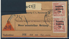 8x SBZ Michel No. 195 gestempelt auf Paketkarte Ausschnitt