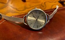 Woman's 38mm Silver Tone Watch with Thin Mesh Band