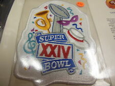 '90 Super Bowl Xxiv Replica Patch With Game Nfl Football Notes 49Ers Broncos