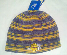 LA Los Angeles Lakers ADIDAS Knit Beanie Toque Skull Cap Winter Hat Reversible