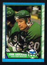 John Anderson #124 signed autograph auto 1989-90 Topps Hockey Trading Card