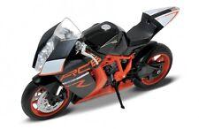 KTM 1190 RC8 R ORANGE/BLACK 1/10 DIECAST MOTORCYCLE MODEL BY WELLY 62806R