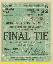 reproduction 1946 DERBY COUNTY CHARLTON fa cup final ticket [RMT]