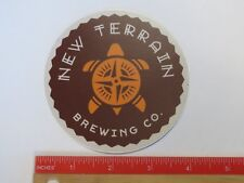 Beer STICKER ~ NEW TERRAIN Brewing Co ~ Golden, COLORADO ~ Turtle with Compass