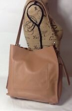 ALL SAINTS ECHO Tan Leather/Suede North South Tote Purse