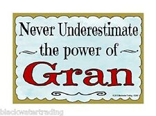 "Never Underestimate Power Gran Grandmother Fridge Refrigerator Magnet 3.5""X2.5"""