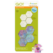 """AccuQuilt GO! Fabric Cutter Die 1"""" Finished Sides English Piecing Hexagons 55422"""