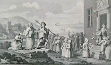 The Foundlings (c1870) William Hogarth - Antiquarian, Antique Steel Engraving