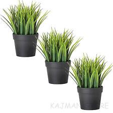 IKEA Green Grass Plants Plant Home Fake Garden in Pots Artificial 20cm FEJKA X3