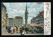 Switzerland  BASEL BASLE Market Used 1904 u/b PPC Faults