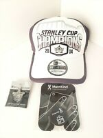 Los Angeles LA KINGS NHL Hockey Bundle, Stanley Cup 2014 Hat, Phone Pop Up, Pin