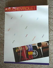 CHEVROLET 1986 CORVETTE CAMARO NOVA SPRINT CHEVETTE CAPRICE - SHOWROOM BROCHURE