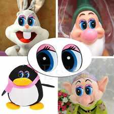 New 5 Pairs(10Pcs) Oval Blue Safety Plastic Eyes Toy Puppets Dolls Eyes 24 x18mm