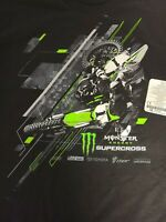 Monster Energy Super-cross Graphic T-Shirt Black XL Alstyle Classic SS BRAND NEW