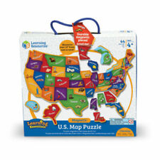 Learning Essentials - Magnetic U.S. Map Puzzle: 44 Pcs