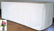5' ft. Fitted Polyester White Table Cover Trade show Booth DJ Tablecloth Wedding
