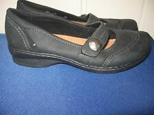 Clarks Artisan 66509 Womens Ideo Rake Black Leather Mary Janes Sz 7.5 Shoes NWOB