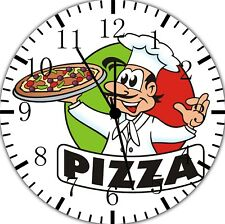 Italian Pizza Chef Frameless Borderless Wall Clock For Gifts or Home Decor E166